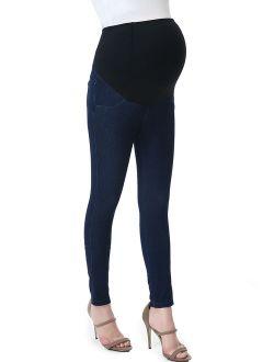 "Maternity Women's Jeggings (26"" Inseam) - Denim Jeans Blue XL"