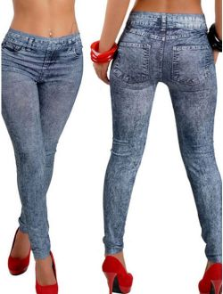 SAYFUT Womens Soft Skinny Stretchy Jeggings Pants Sexy Printed Pencil Jeans Leggings