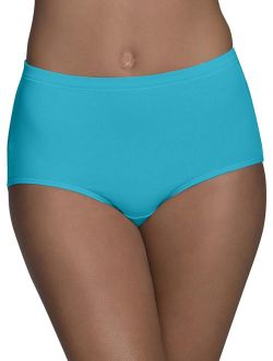 Women's Breathable Cotton-mesh Brief Underwear, 6 Pack, Size 9