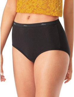 Women's Cotton Brief Panties, 10-pack