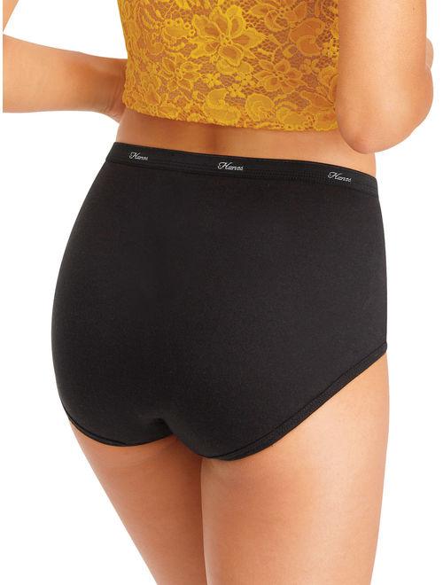 Hanes Women's Cotton Brief Panties, 10-Pack