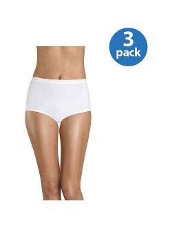 Women's Assorted Cotton Brief Panties - 3 Pack