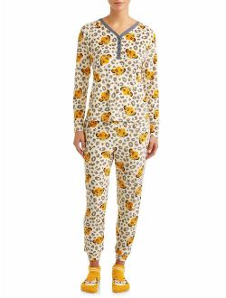 Women's And Women's Plus Giftable Simba 3 Piece Pajama Set