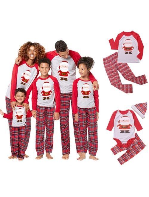 Xmas Family Matching Christmas Pajamas Set Womens Mens Kids Sleepwear Nightwear