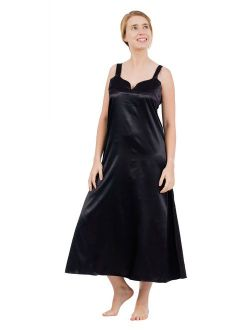 Up2date Fashion's Women's Long Satin Chemise / Nightgown
