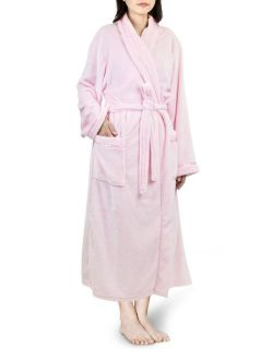 Premium Women Fleece Robe with Satin Trim   Luxurious Super Soft Plush Bathrobe