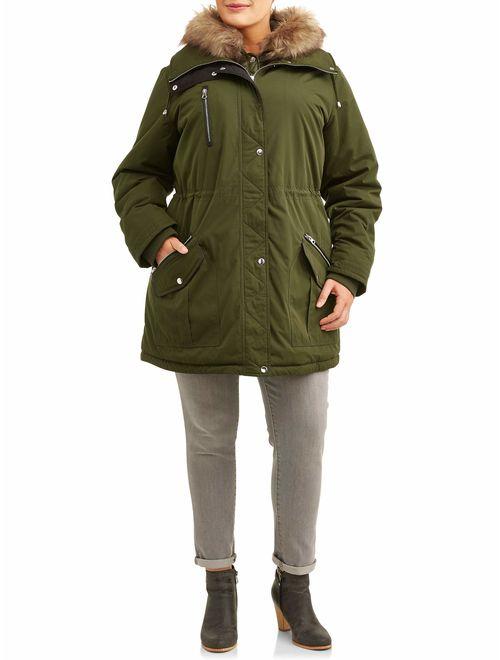 Time and Tru Women's Plus Size Heavyweight Anorak Jacket