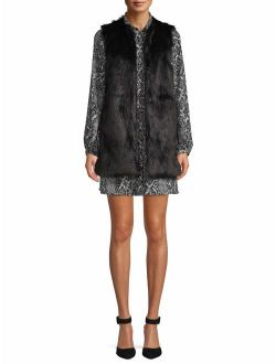 Faux Fur Vest Women's