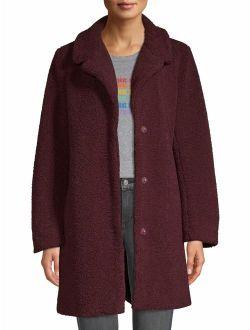 Teddy Faux Fur Overcoat Women's