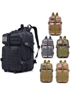 Zimtown 40L Military Tactical Backpack, Army Assault Molle Waterproof Bag, for Camping Hiking Climbing Trekking Exploring Outdoor Sports