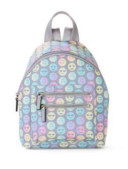 Grey Rainbow Ombre Emoji Mini Dome Backpack