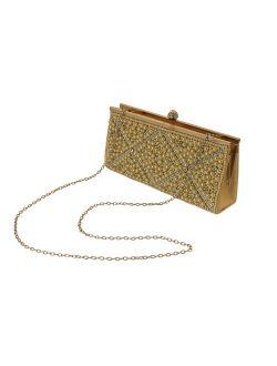 Dazzling Womens Evening Bag Fashion Clutch - Faux Pearl Rhinestone Clutch Purse PS85