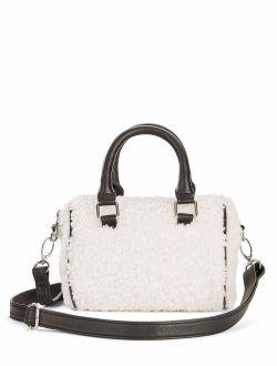 Faux Sherpa Furry Mini-duffel Crossbody Bag