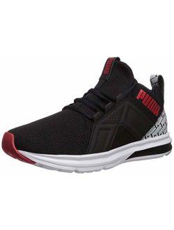 Men's Enzo Sneaker, Black-high Risk Red White, 12 M Us