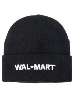 Wal-Mart Roll-Cuffed Embroidered Beanie
