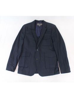 Navy Blue Mens Large Two Button Notched Blazer $133 L