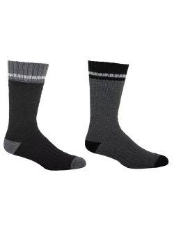 Men's Kodiak Thermal Cotton Crew Socks - 2-pack