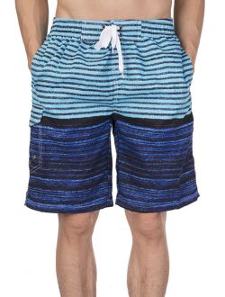 Mens Breathable Board Shorts Swim Trunks Hybrid Short