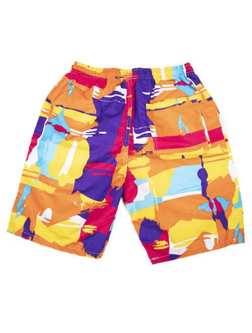 LELINTA Mens Swim Trunks Board Shorts Bathing Suits Elastic Waist Drawstring, Red