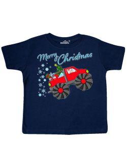 Merry Christmas- Santa drives a monster truck Toddler T-Shirt
