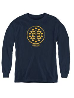 Bsg - Gold Squadron Patch - Youth Long Sleeve Shirt - X-Large