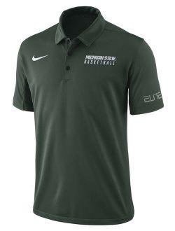 Michigan State Spartans Nike 2017-2018 Coaches Elite Basketball Polo - Green