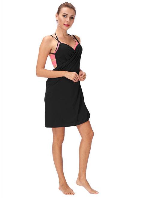 LELINTA Women Cover up Summer Holiday Hollow Out Bikini Cover Up Swimwear Bandage Swim Bathing Suit Loose Beach Wear Dress Tops