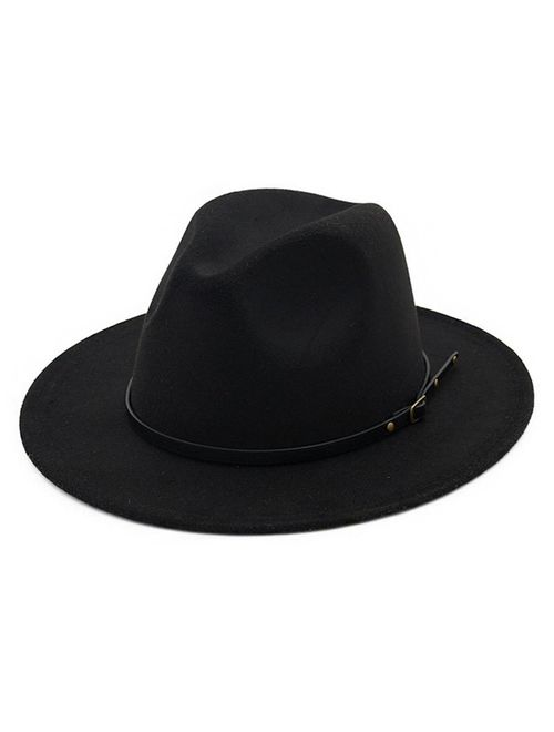 Lisianthus Belt Buckle Fedora Hat
