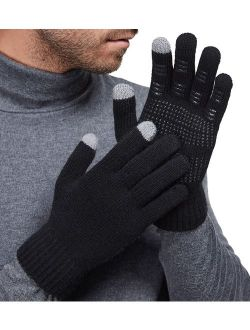 LETHMIK Mens&Womens Non-Slip Touchscreen Gloves Winter Warm Knit Wool Lined Texting Glove