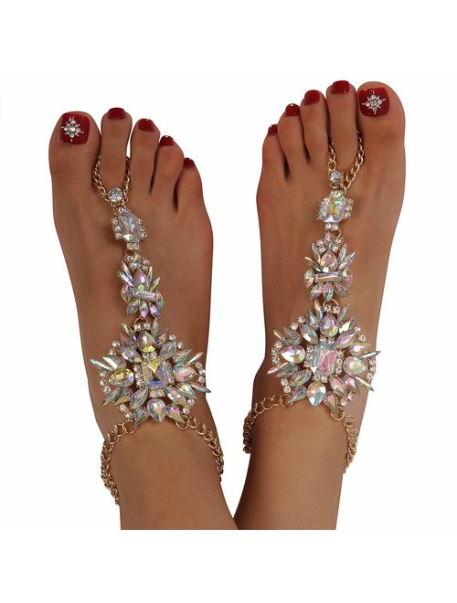 Bead Ankle Chain Bracelet Beach Wedding Foot Jewelry Barefoot Anklet Accessory W
