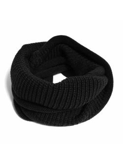 HappyTree Kids Winter Scarf Thick Knitted Warm Toddler Infinity Scarf Soft Chunky Neck Warmer for Boys Girls
