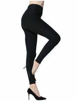 Diravo Leggings for Women-Soft Stretch Leggings-Slimming Basic Leggings,Regular&Plus Size