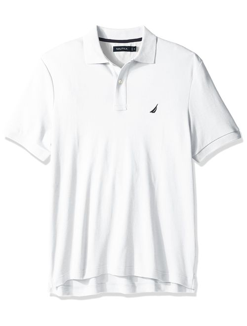 Nautica Men's Classic Fit Short Sleeve Solid Soft Cotton Polo T-Shirt