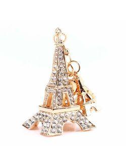 Yosoo Owl Keychain Rhinestone Crystal Keyring Key Ring Chain Bag Charm Pendant Gift