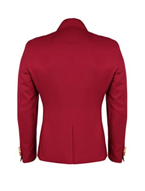 COOFANDY Men's Casual Double-Breasted Jacket Slim Fit Blazer