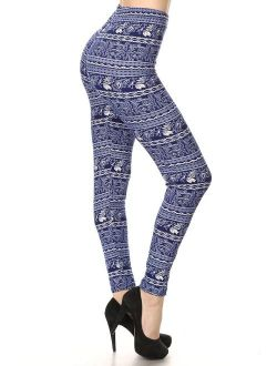 Conceited Premium Ultra Soft Leggings for Women - One Size (0-12) - Full and Capri Length - Printed and Solids