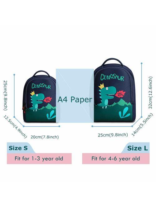 Lehoo Castle Dinosaur Backpack for Boy, Toddler Boy Backpack, Dino Backpack for Toddler, Dinosaur Bag Dinosaur Gifts for Boys