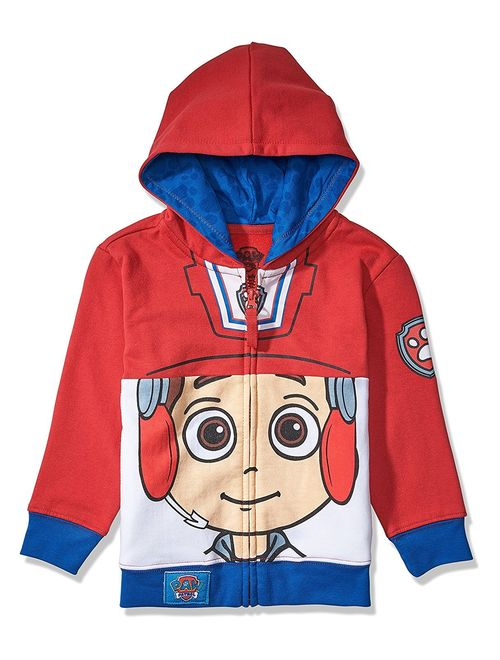 Nickelodeon Toddler Paw Patrol Character Big Face Costume Zip-up Hoodies (2T, Ryder)