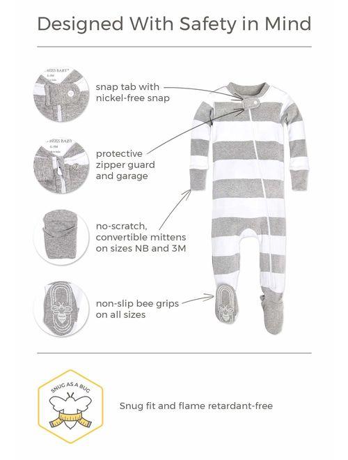 Burt's Bees Baby Baby Boys' Unisex Pajamas, Zip-Front Non-Slip Footed Sleeper Pjs, Organic Cotton