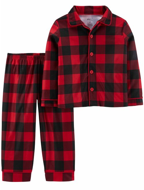 Simple Joys by Carter's Baby and Toddler Boys' 2-Piece Coat Style Pajama Set