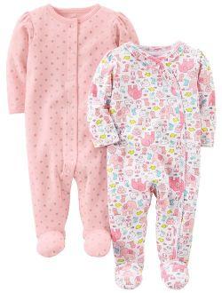 Infant-and-Toddler-Sleepers Unisex beb/é Simple Joys by Carters Pack de 3 Pijamas de Algod/ón Neutro Pack de 3