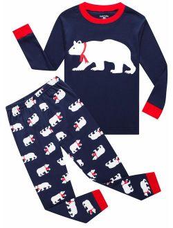 Family Feeling Christmas Little Boys Girls Child Pajamas Sets 100% Cotton Toddler Pjs
