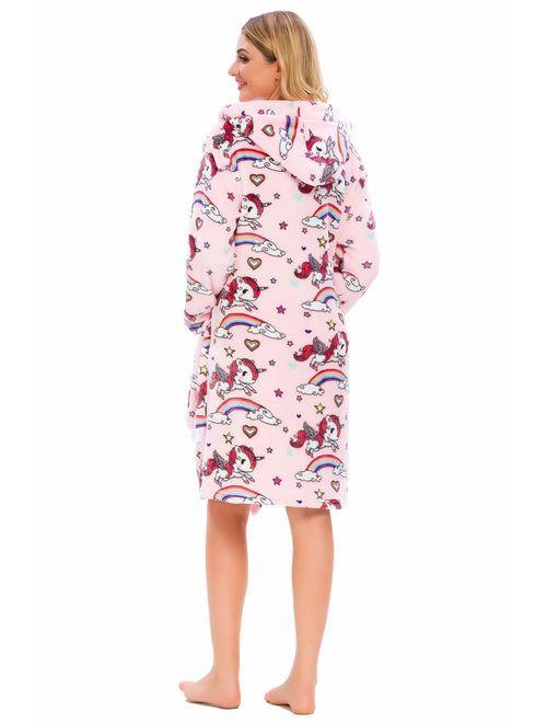 Ameyda Kids' & Adult Soft Flannel Bathrobes, 1 Year - Adult XL