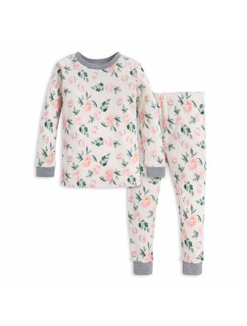 100/% Organic Cotton Burts Bees Baby Baby Girls Pajamas Tee and Pant 2-piece Pj Set