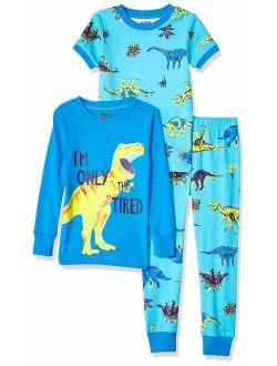 Amazon Brand - Spotted Zebra Unisex 3-Piece Snug-Fit Cotton Pajama Set