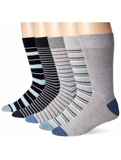 Hanes Men's Fresh IQ Crew Cushion Socks 6 Pack, 6 12, White