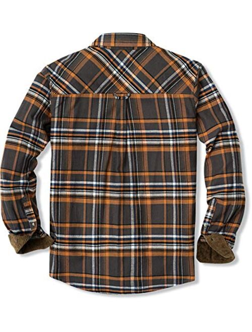 CQR Cotton Long Sleeved Button Up Plaid All Brushed Flannel Shirt