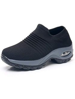 Slow Man Store Mesh Slip On Walking Shoes Sock Sneakers