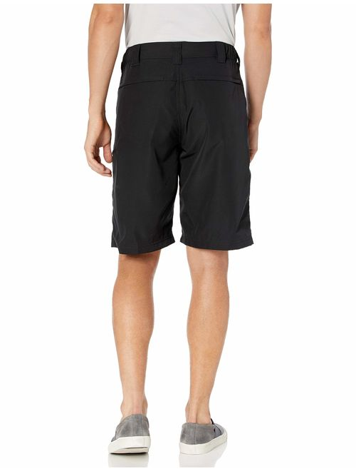Wrangler Authentics Men's Polyester Solid Relaxed Fit Side Elastic Utility Short