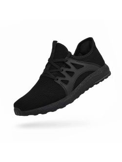 QANSI Men's Sneakers Low Cut Balenciaga Look Lightweight Breathable Athletic Running Walking Gym Tennis Shoes